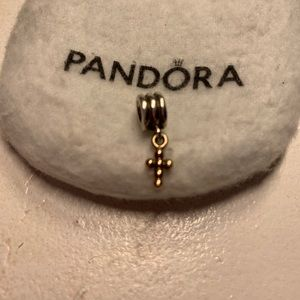 Beautiful silver and gold Pandora charm